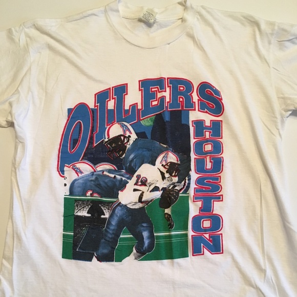 Vintage 90 s Houston Oilers Warren Moon Tee XL. M 5b2305fb2beb790e80f121fe 28c2ce311